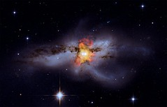 Black Holes Go 'Mano a Mano' (NASA, Chandra, 10/06/09) (NASA's Marshall Space Flight Center) Tags: friends nasa galaxy astronomy blackholes chandra xraytelescope chandraxrayobservatory ngc6240