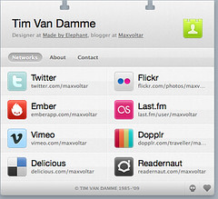 screenshot of Tim Van Damme's hCard