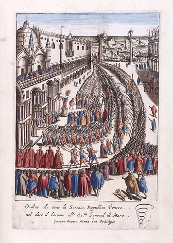 009-Ceremonia de entrega del baston de mando al General del Mar-Habiti d'hvomeni et donne venetiane 1609
