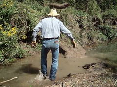 Revisit Mud Pond look'n for dropped keys&pocket knife - how mud adventure started... (wranglerswimmer) Tags: wet hat creek swimming cowboy mud boots hiking clothed wranglers hike jeans muddy wading cowboyboots wrangler wallowing swimmingfullyclothed wetjeans wranglerjeans bootwash mudpond wetcowboy wetwranglerjeans meninwetjeans wetadventure mudwallowing guysswimminginjeans