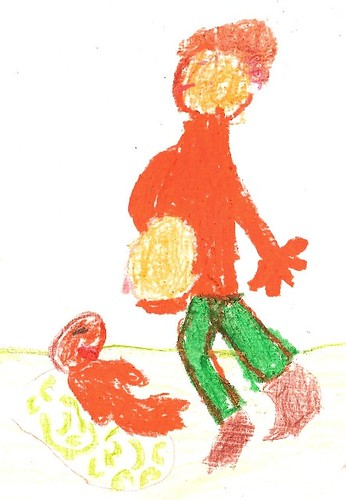 Dibujo infantil lactancia