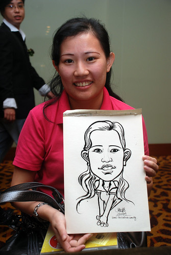 Caricature live sketching for Rheen Manufacturing Company (Singapore) Pte Ltd  - 4