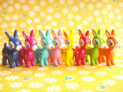 Kawaii Cute Puchi Babie Tiny Doll Miniatures Japanese Toys Rare (Kawaii Japan) Tags: pink blue red orange cute green smile animal yellow japan shop shopping asian toy happy japanese miniature stor