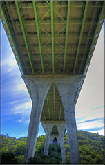 Worlds Most Beautiful Freeway (Jill Clardy) Tags: road county point highway san crystal overpass springs freeway 100views interstate 500views vanishing mateo hdr 280 photomatix 3825 3826 3824 worldsmostbeautifulfreeway