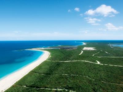 Aerial view of Serenity Point, Schooner Bay Beach