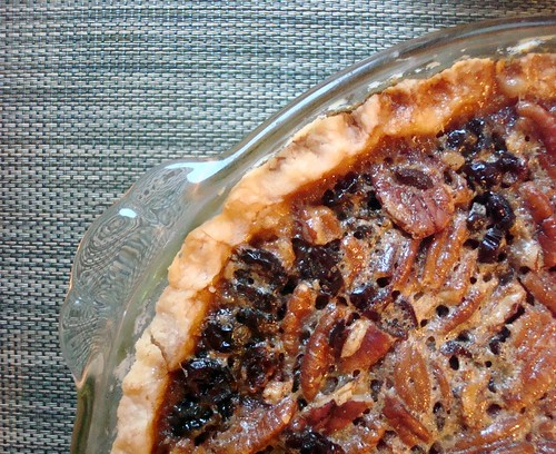 Cranberry Bourbon Pecan Pie
