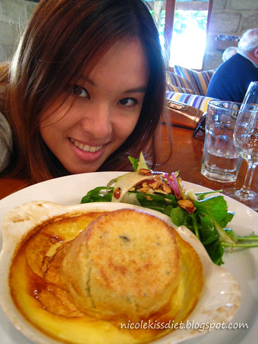 eating cheese souffle