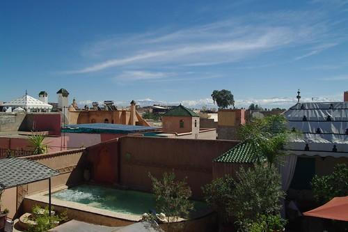 terrace riad jona marrakech morocco