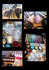 colours (Art Fountain) Tags: collage colours collection products eyeshadow glitters palatte makeuo blushers