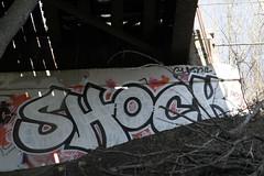 Shock (Hear45) Tags: streetart minnesota graffiti minneapolis urbanart mpls shock spraypaint twincities uc mn aerosolart graffitiart 612 akb