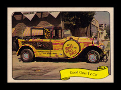 "Fleer ""Kustom Car"" Sticker, 1975 (Cosmo's ""ART"" Gallery) Tags: sticker 1975 hotrod tvshow showcar goodguys kustomcar georgebarris fleer bobdenver"