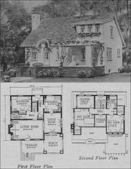 1923 Cottage Bungalow (American Vintage Home) Tags: 1920s house architecture small cottage plan residential olsen bungalow 1923 urbain