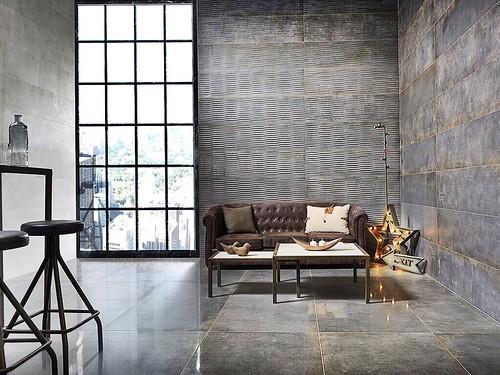 #fernandoleonespacios #salon #cevisama #ceramica #tiles #design #floor #walls #iron #sensation #arquitectura #diseño #interiorismo #keraben #pedreguer #alicante