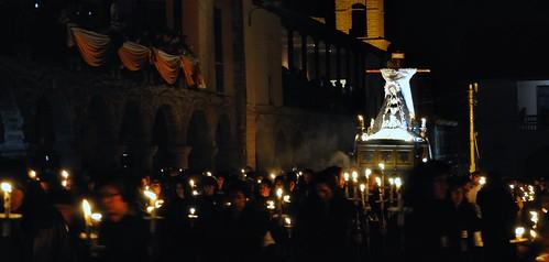 La Virgen Dolorosa  en procesión