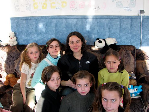 Lisa Trujillo with HOA after-school children