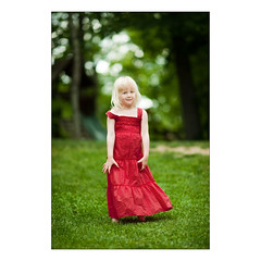 Little Lady in Red (Cooriander) Tags: portrait girl 3d bokeh sassy 135mmf2dc 135mmf2ddc uncalibrated d700