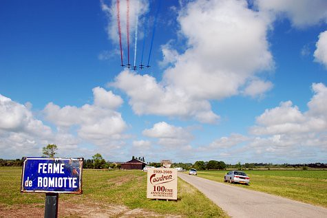 PAF flies over Romiotte farm