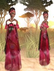 ALB AFRICA (Alii Vella ♥ Fashion Slave in SL) Tags: life pink hair vanity sl secondlife second alb vella balut nomine alii savana analee aliivella fashionslavesinsl