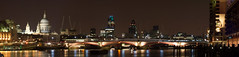 Blackfriars Bridge - Pano 01 (Davide Simonetti) Tags: longexposure panorama london thames reflections photo amazing group nightshots stpaulscathedral riverthames panos blackfriarsbridge the perfectpanoramas aplusphoto