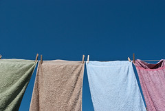 Wash Day (MarthaaMay) Tags: sunny towels pegs washingline hangingoutthewashing