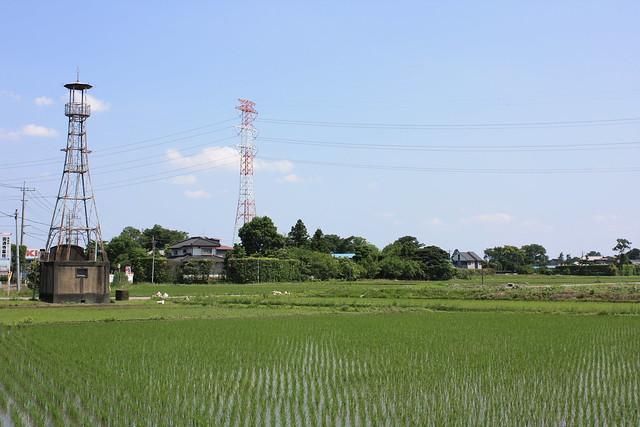 畑中の火の見櫓(川島町)