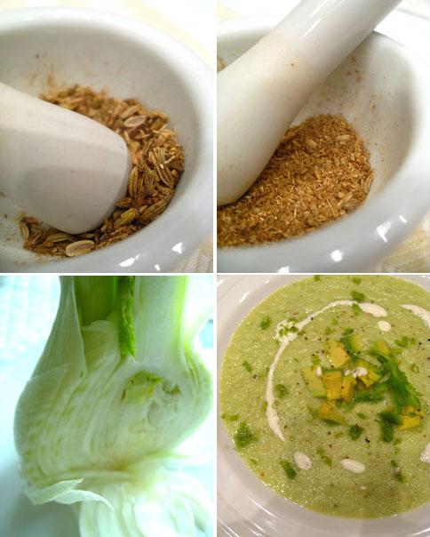 raw cream of fennel soup