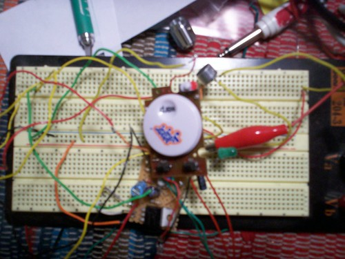 Toy guts on a breadboard