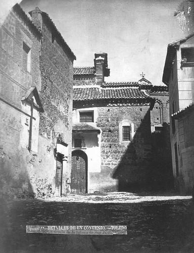 Parte trasera de la Iglesia de San Justo de Toledo en el siglo XIX. Fotografía de Casiano Alguacil