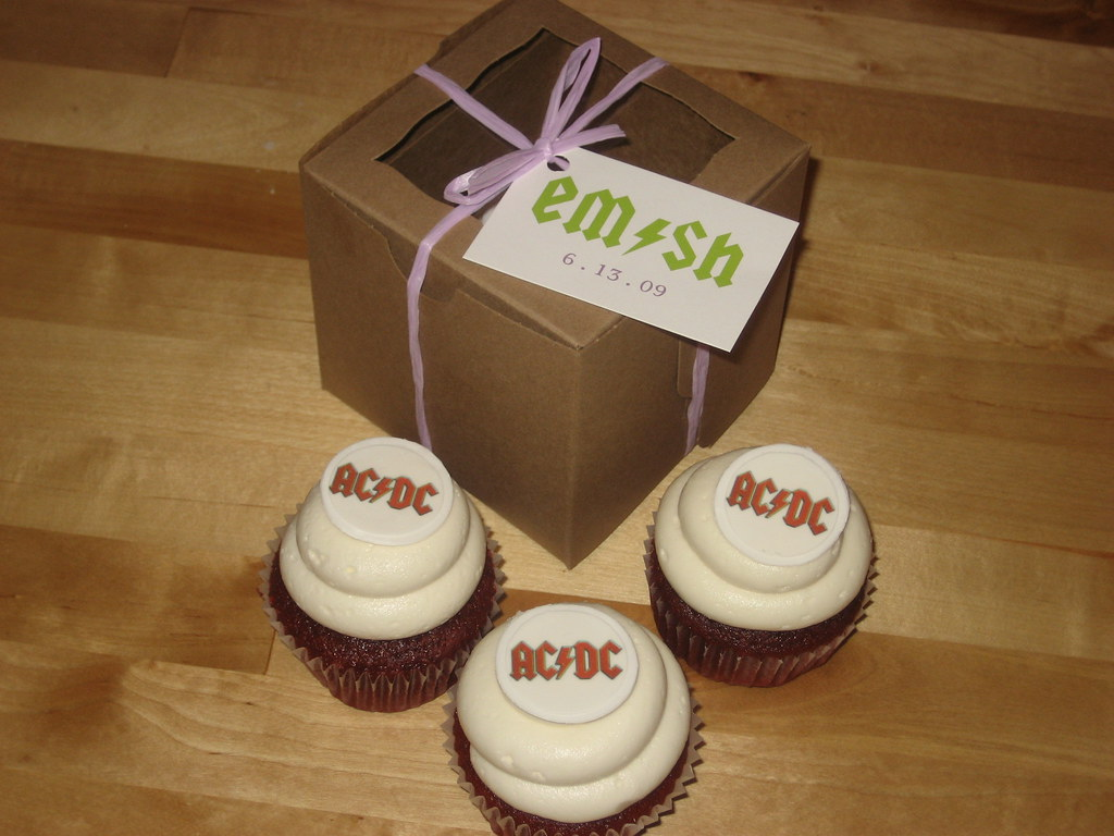 ACDC Wedding Cupcake Favors