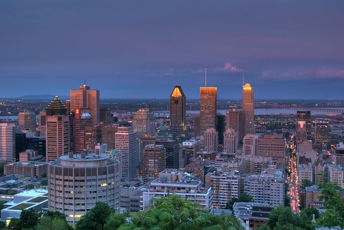 Downtown Montreal from Mont-Royal HDR