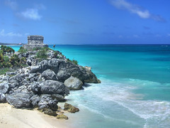 Tulum (Rubinho1) Tags: sea panorama beach mexico mar ruins rocks maya yucatan tulum playa ruinas rivieramaya carib hdr roca rocas platja runes caribe roques caribean rubinho1 infinestyle rubenfernndez