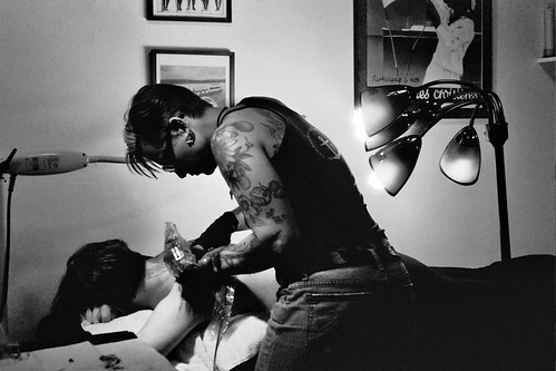 Idexa tattooing Lee Black and Blue