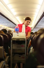 Stewardess of Wizzair Ukraine