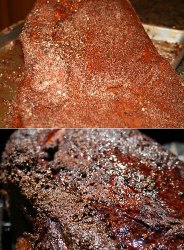 Brisket before and after
