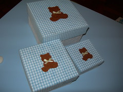 Caixas forradas ursinho 2