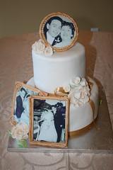 Golden Anniversary Cake (irresistibledesserts) Tags: wedding roses cake golden anniversary 50 edibleimages