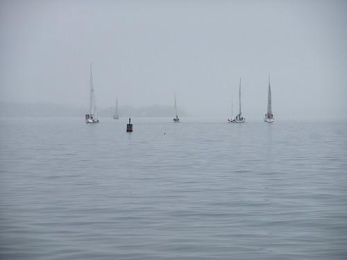 turning sailboats