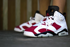Carmines. (Daniel.Lam) Tags: 6 photography 50mm nikon you head daniel air sneakers nike retro wear jordan sneaker what 23 did nikkor 18 today countdown package lam vi carmine jumpman cdp d40 daniellam wdywt daniellamphotography