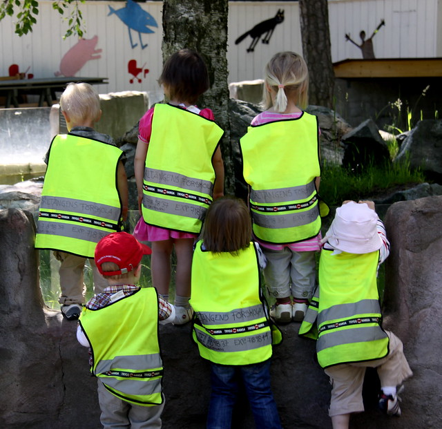 Swedish Kids Check Out the Kiddie Zoo
