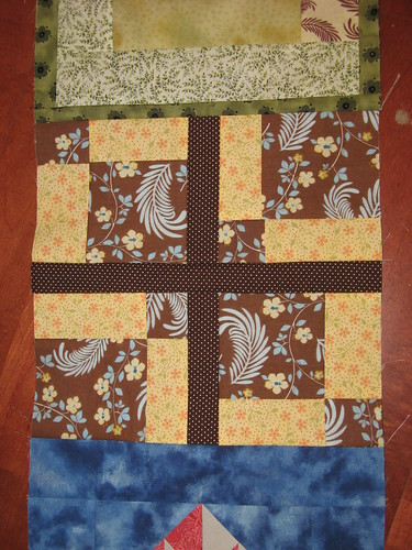 Detail of Tossed 9 Patch variation