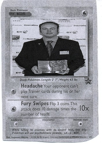 """Mr Scott"" Pokemon Card (2008)"