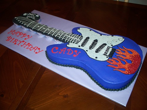 Electric Guitar Birthday Cake A Photo On Flickriver