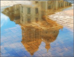 Port of Liverpool Building in a puddle (*Psycho Delia*) Tags: sky reflection liverpool searchthebest pierhead blueribbonwinner portofliverpoolbuilding adifferentpointofview ultimateshot