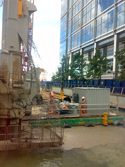 Crossrail building work - Canary Wharf