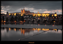 Prague Postcard (szeke) Tags: bridge night clouds river landscape puente nightlights prague praha praga praskhrad czechrepublic charlesbridge vltava hradcany praguecastle karlvmost moldau eskrepublika karlvmost nimbocumulus praskhrad eskrepublika platinumpeaceaward daarklands