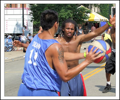 Lancaster Ohio - Gus Macker Basketball - 2009 - 133 (rbatina) Tags: county street city boy columbus ohio shirtless playing man game streets male men guy sports boys muscles basketball sport festival ball court outside outdoors back athletic downtown play shot arms 1st muscular chest main contest young free first competition august guys dude tournament event sweat topless lancaster strong oh annual athletes thin bball gus dudes trim broad amateur 2009 built fit fairfield 3on3 tourney sweating macker gusmacker rubbertoe basketballtournament
