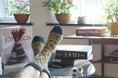 Boyfriend Socks (MaryJaneM) Tags: home socks fairisle putyourfeetup newbook handknitsocks maryjanemucklestone