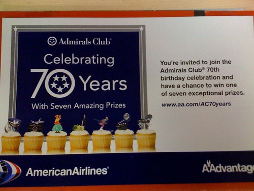 American Airlines uses cupcakes in flyer