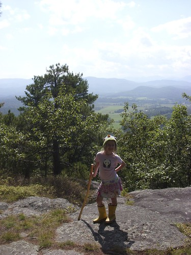 Elizabeth at the summit of Coon Mountain