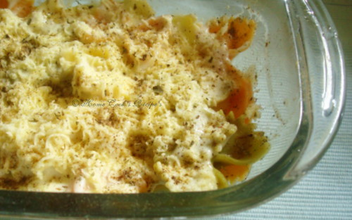Pasta with Cheese before baking